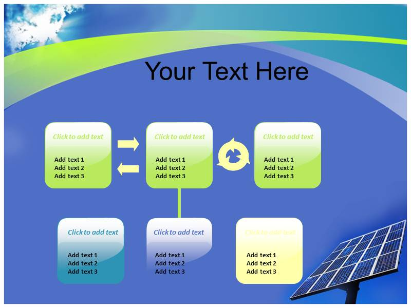 Solar Energy Products PowerPoint Templates and Backgrounds