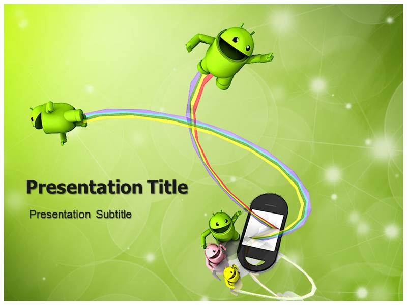 Android powerpoint template background with robot icon ppt download toneelgroepblik Choice Image