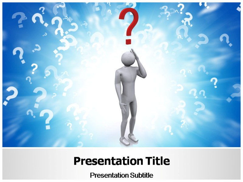Question powerpoint templates question ppt theme slides for Powerpoint questions and answers template
