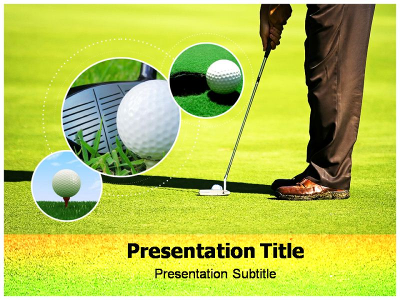 golf club powerpoint templates, ppt backgrounds, slides, Modern powerpoint