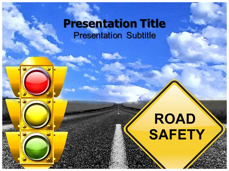 road safety animated powerpoint templates and backgrounds, Modern powerpoint