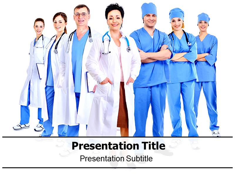 Medical professionals powerpoint template
