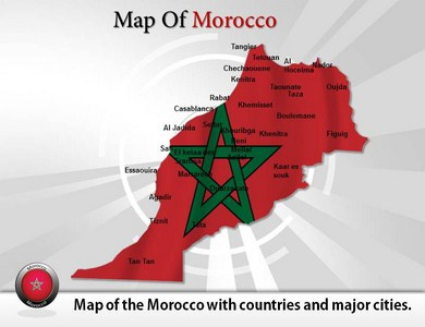 Map of Morocco PPT Presentation Template