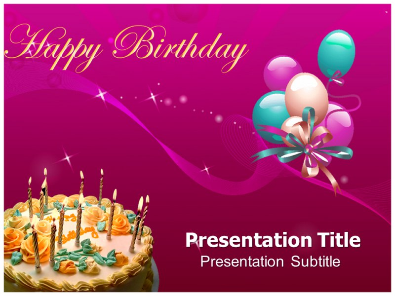 birthday powerpoint slide