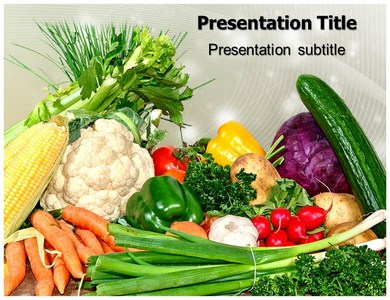 Fresh vegetables powerpoint templates and backgrounds fresh vegetables ppt presentation template toneelgroepblik Choice Image