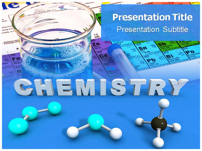 General Chemistry PowerPoint(PPT)Templates, PPT Background Slide