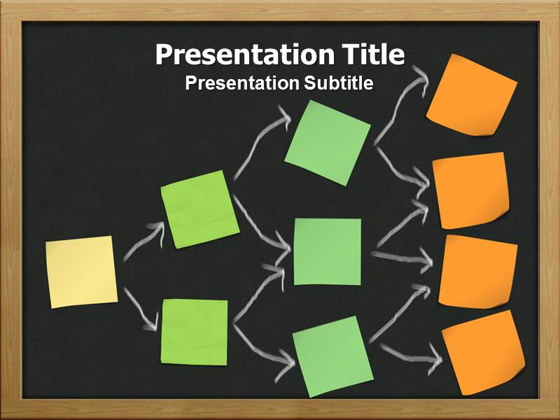 hierarchy of decision tree with black powerpoint templates