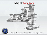 New York Maps powerPoint template