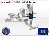 New York Maps backgroundPowerPoint Templates