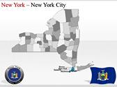 New York Maps powerPoint background