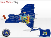 New York Maps themes for power point