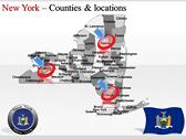 New York Maps design for power point