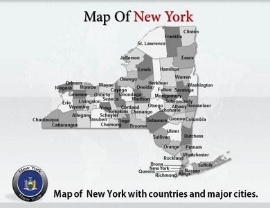 New York Maps PPT Presentation Template