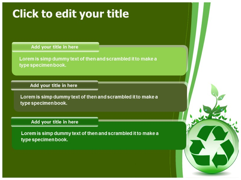 Global environmental recycling powerpoint templates and backgrounds download toneelgroepblik Choice Image