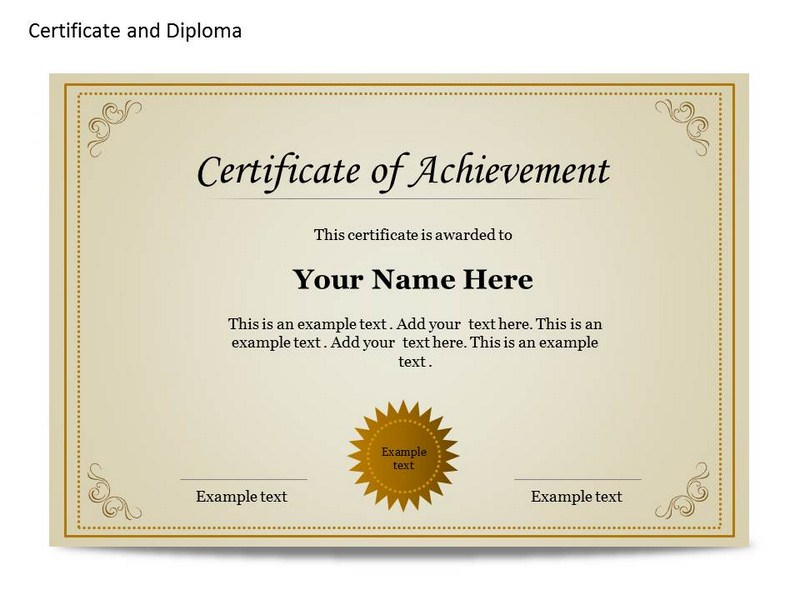 Certificat and diploma chart powerpoint templates and for Diplomas and certificates templates