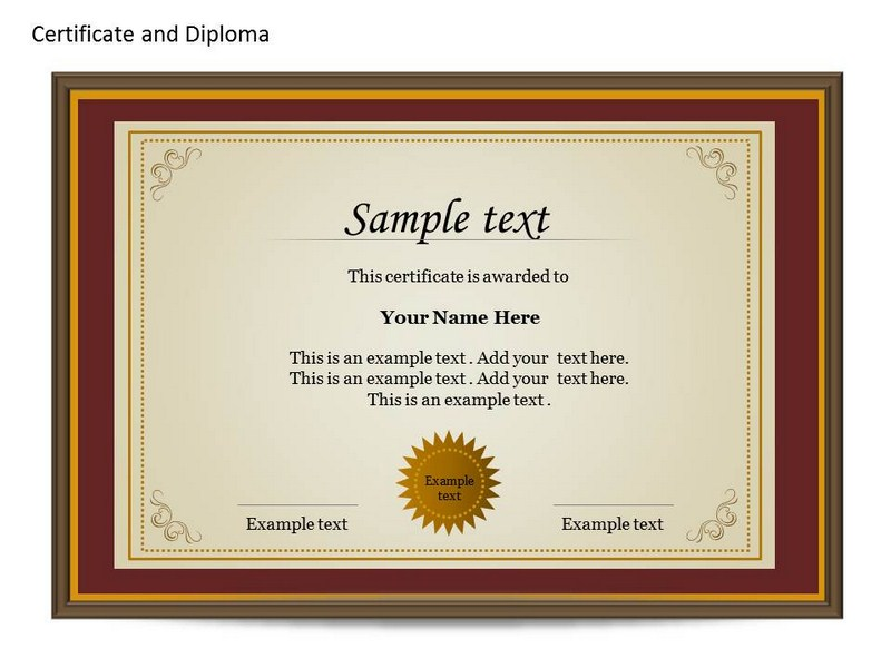Certificat and diploma chart powerpoint templates and for Certificate template powerpoint