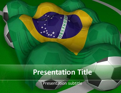 brazil flag powerpoint templates and backgrounds, Presentation templates