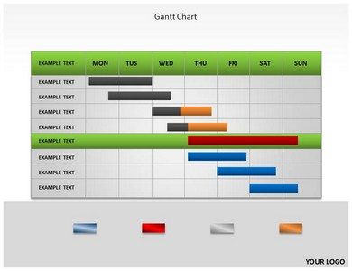Gantt Chart PowerPoint Templates and Backgrounds