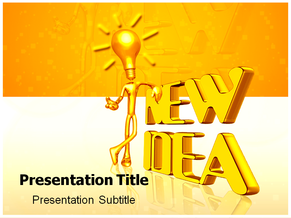 New idea powerpoint templates and backgrounds for New idea images