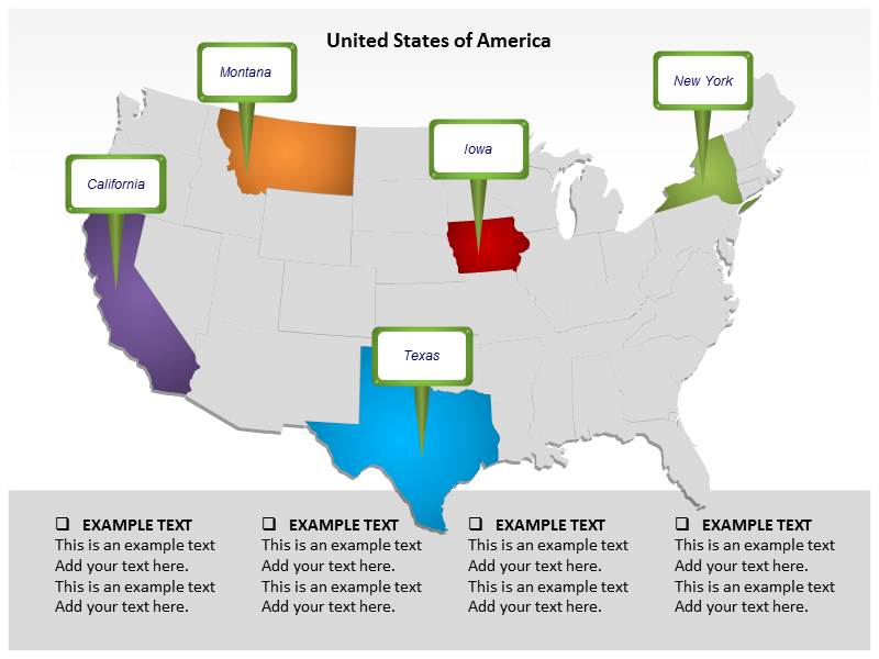 Population In United States Of America PowerPoint Templates And - Free us map for powerpoint