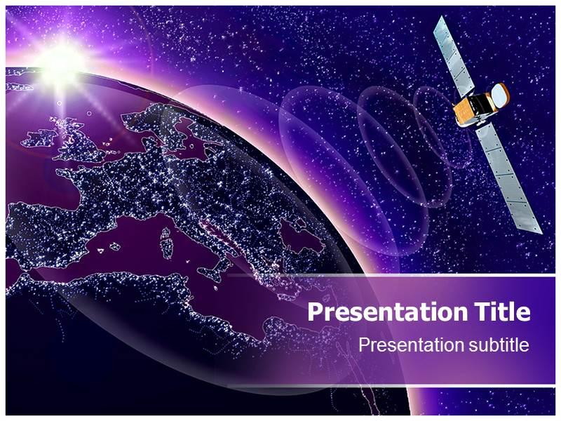 Satellite communications powerpoint templates and backgrounds satellite communications powerpoint template all slides toneelgroepblik Images