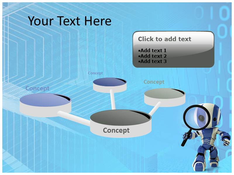 robot programming powerpoint templates and backgrounds, Powerpoint templates