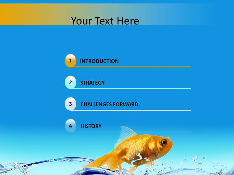 water fish powerpoint template background of fish, water, Modern powerpoint