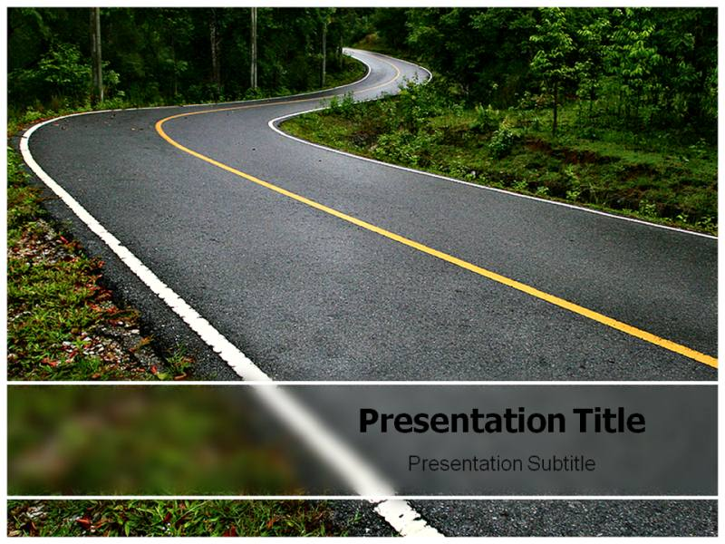 Road winding PowerPoint Templates and Backgrounds