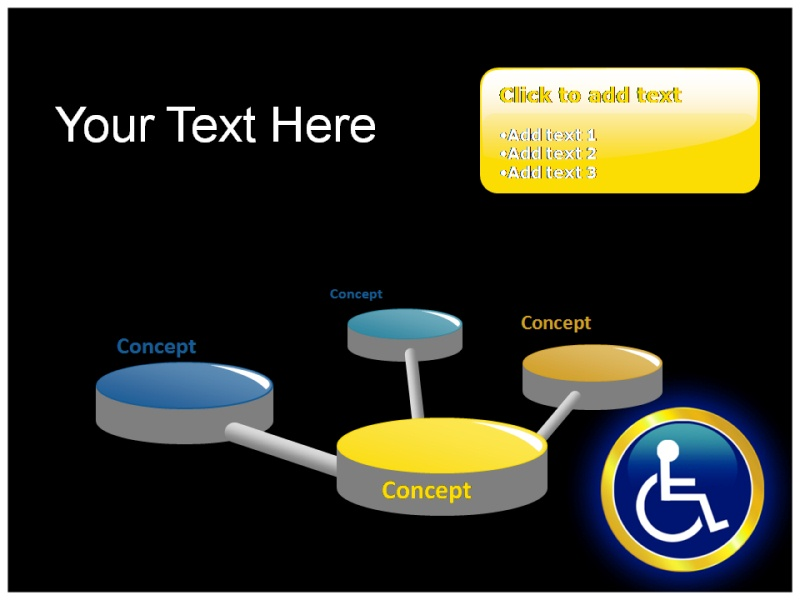 Reserved Handicapped Seat Powerpoint Template