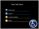 Reserved Handicapped Seat powerpoint theme download