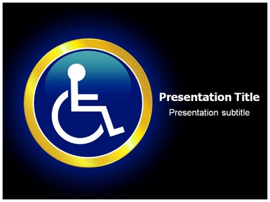 Reserved Handicapped Seat PPT Presentation Template