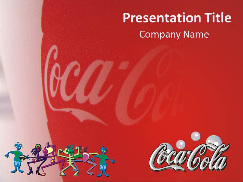 magnificient coca cola powerpoint template background of coke, Modern powerpoint