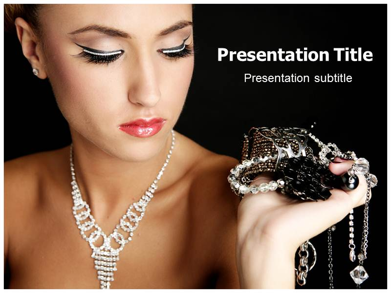 precious jewellery powerpoint templates and backgrounds, Templates