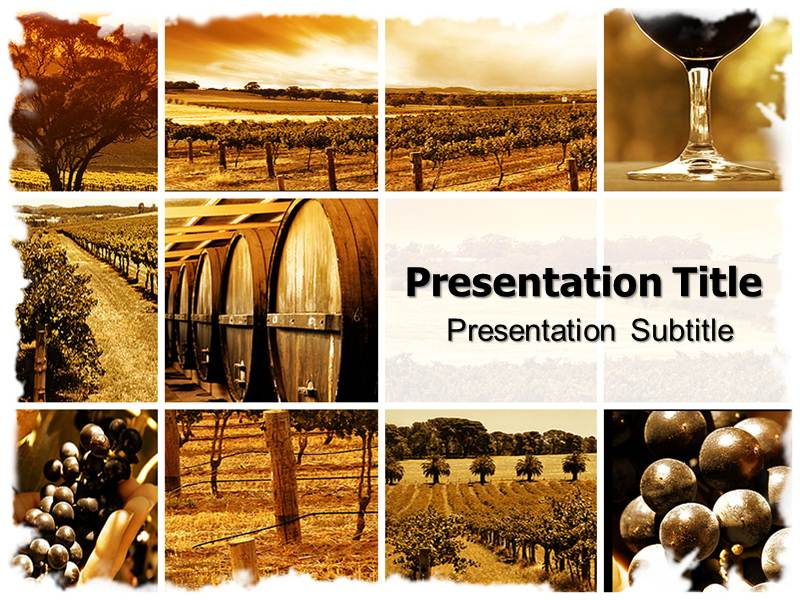 Wine montage powerpoint templates and backgrounds download toneelgroepblik Gallery