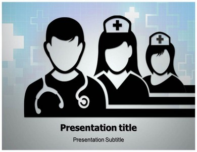 Medical Team Silhouettes PPT Presentation Template