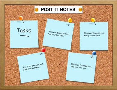 Post it note powerpoint template background of charts diagrams post it note ppt presentation template toneelgroepblik Images