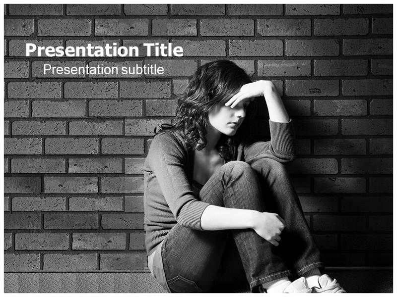 depression ppt template  depression powerpoint themes