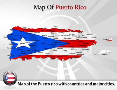 Map of Puerto Rico PPT Presentation Template