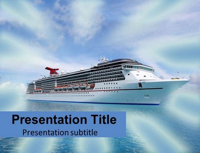 cruise ship powerpoint templates ppt backgrounds slides