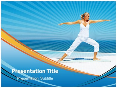 power yoga powerpoint templates and backgrounds, Presentation templates