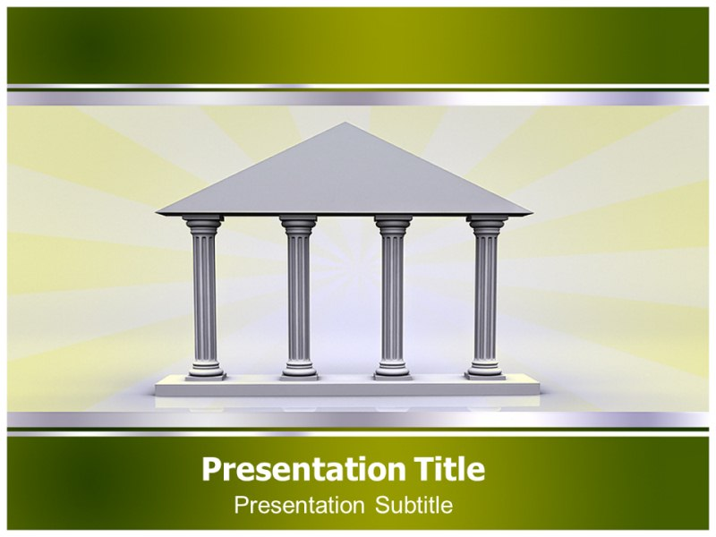 interactive greek columns powerpoint templates ppt