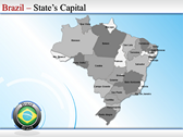 Map of Brazil powerPoint templates