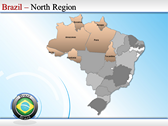 Map of Brazil powerpoint template download