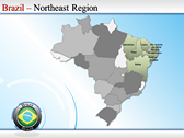 Map of Brazil ppt templates