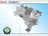 Map of Brazil powerPoint background