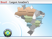 Map of Brazil powerpoint backgrounds download
