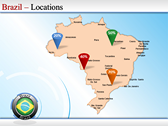 Map of Brazil power Point Backgrounds