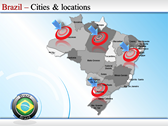 Map of Brazil powerpoint backgrounds