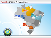 Map of Brazil themes for power point