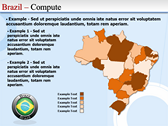 Map of Brazil power point background templates